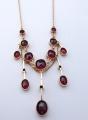 Secesní zlatý náhrdelník s broušenými granáty (5).JPG