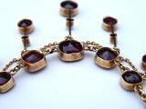 Secesní zlatý náhrdelník s broušenými granáty (7).JPG