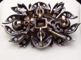 Starožitná brož, závěs, s diamanty a smaragdem 0,75 ct (4).JPG