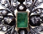 Starožitná brož, závěs, s diamanty a smaragdem 0,75 ct (6).JPG