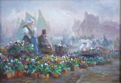 Jaroslav Pokorný - Na trhu s tulipány, Holandsko (2).JPG