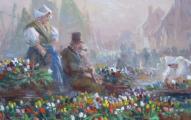 Jaroslav Pokorný - Na trhu s tulipány, Holandsko (4).JPG