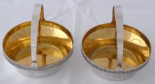 Párové stříbrné a zlacené košíčky - Tallin, Estonsko (2).JPG