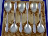 Stříbrné dezertní lžičky, art deco, etue (2).JPG