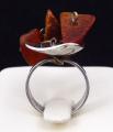 Stříbrný prsten s třemi přírodními jantary (3).JPG