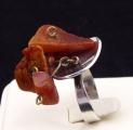 Stříbrný prsten s třemi přírodními jantary (4).JPG