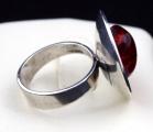 Stříbrný prsten s jantarem - Polsko 1963 - 1980 (6).JPG