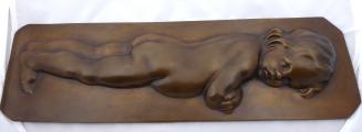 Bronzový reliéf nahého dítěte (2).JPG