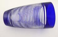 Váza, kobaltové a křišťálové sklo - sklárny Josefodol (3).JPG