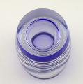 Váza, kobaltové a křišťálové sklo - sklárny Josefodol (7).JPG