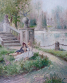 Leopold Burger - Dostaveníčko v zámeckém parku (3).JPG