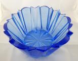 Modrá skleněná mísa v kubistickém stylu (3).JPG