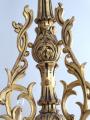 Zlacený řezbovaný dřevěný lustr (3).JPG