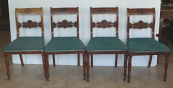 Four chairs in mahogany