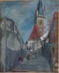 K. Liška - Na schodech ke kostelu