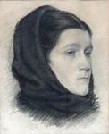 Lev Lerch - Portrét ženy v šátku