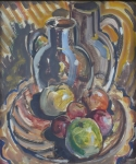 Hykys - Still life with fruit and a jug