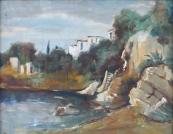 Jaroslav Veris - Houses on the rocky coast