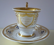 Empire style cup and saucer - Berlin