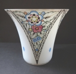 Váza s mléčného skla art - deková