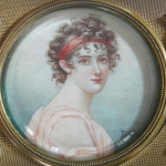 Dózička s miniaturou - Madame Récamier