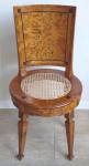 Klasicistní kruhová židle s výpletem