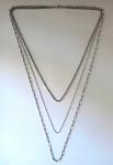 Three-part silver chain - Czechoslovakia