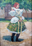 Frantisek Toman - Girl in folk costume