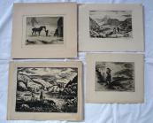 Alois Moravec - Čtyři grafické listy