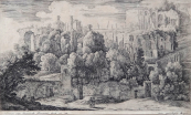 Hermann van Swanevelt - Ruiny antického amfiteátru