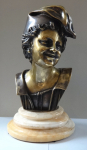 Boy in cap - Bronze