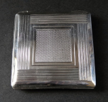 Small silver powder box