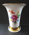 Váza s květinami a zlacením - Míšeň