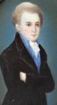 Miniatura mladého muže v dlouhém kabátě