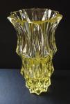 Váza s klínovým brusem - Moser, Eldor