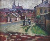 Alois Srnsky - Town scenery