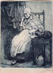 S. G. Maran - Sedící stařenka