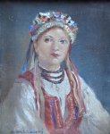 Bedrich Sokiransky - Girl in folk costume