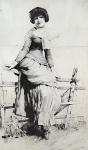 Kamil Stuchlik - Sitting girl on fence