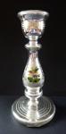 Svícen z amalgámového skla