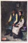 Adolphe Fenyes - Sitting man and woman