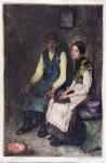 Adolphe Fényes - Sedící muž se ženou
