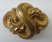 Gilded metal brooch - Biedermeier