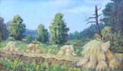 Snopy na mýtině u lesa