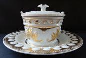 Nádoba s talířem - Míšeň, Biedermeier