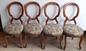 Čtyři židle s obloukovými opěradly