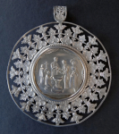Silver medallion for baptism - Vienna 1846
