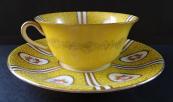 Žlutý šálek s podšálkem - Paepkke & Schäfer, Haida