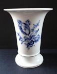 Váza s kobaltovým tulipánem - Míšeň
