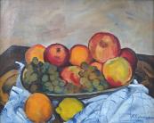 M. Fišerová - Zátiší s ovocem na stole